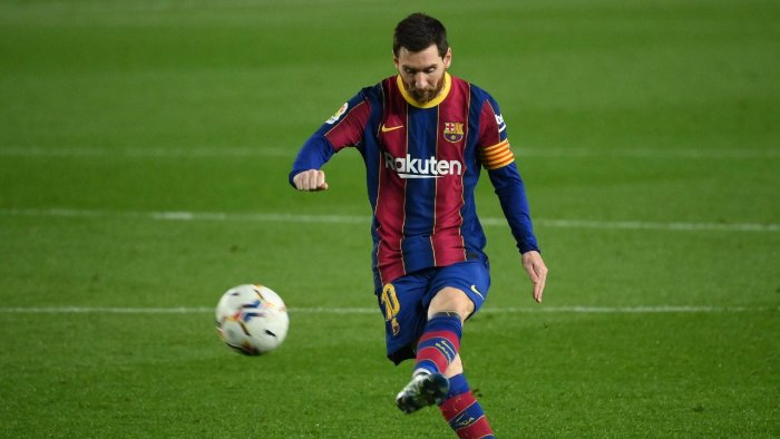 Messi in action. Credit: AFP Photo
