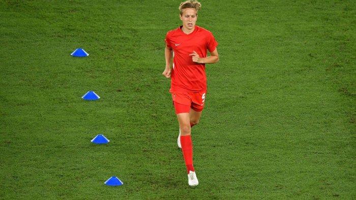 Canada's midfielder Quinn. Credit: AFP Photo