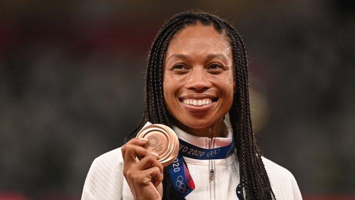 American sprinter Allyson Felix. Credit: AFP Photo
