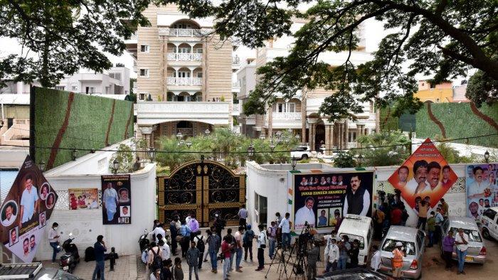 Raid on MLA BZ Zammer Ahamed Khan House at Shivajinagar in Bengaluru Credit: DH Photo/B K Janardhan