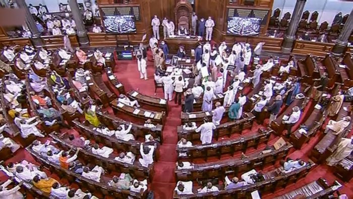 A view of Rajya Sabha. Credit: PTI