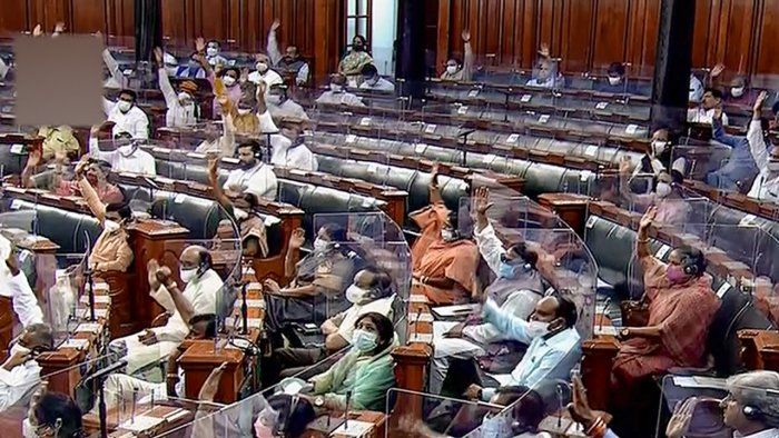 A view of the Lok Sabha during the Monsoon Session of Parliament. Credit: PTI Photo
