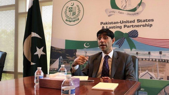 Pakistan NSA Moeed Yusuf. Credit: AFP Photo
