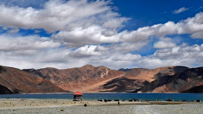 Indian citizens can visit Pangong So Lake in Ladakh without an Inner Line Permit. Credit: AFP Photo