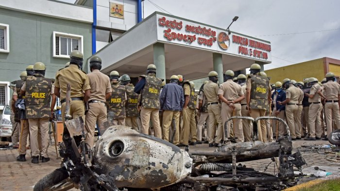 The two cases being investigated by NIA officials were originally registered in DJ Halli and KG Halli police stations pertaining to the riots on August, 11, 2020. Credit: DH File Photo/ M S Manjunath