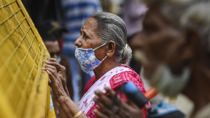 The active cases have climbed to 4,12,153and comprises 1.29 per cent of the total infections. Credit: PTI Photo