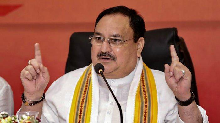 BJP chief J P Nadda. Credit: PTI File Photo