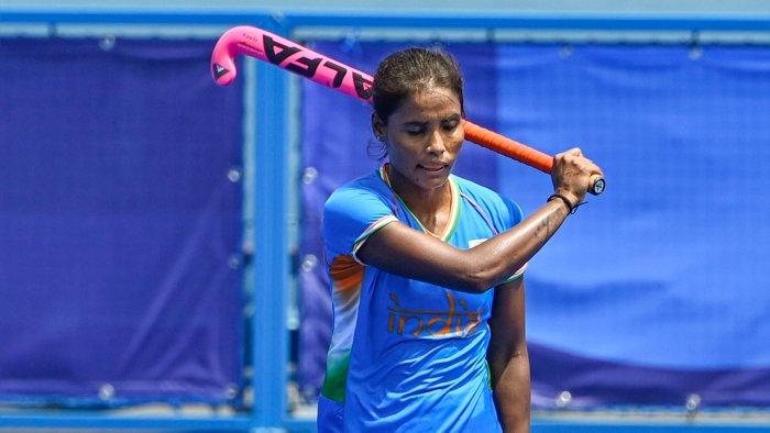 India's Vandana Katariya. Credit: PTI Photo