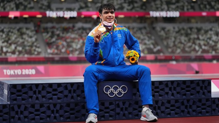 Javelin throw gold medallist Neeraj Chopra. Credit: PTI Photo