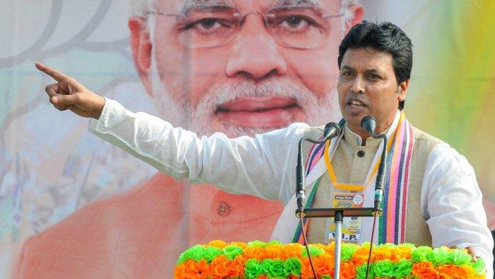 Tripura CM Biplab Kumar Deb. Credit: PTI File Photo