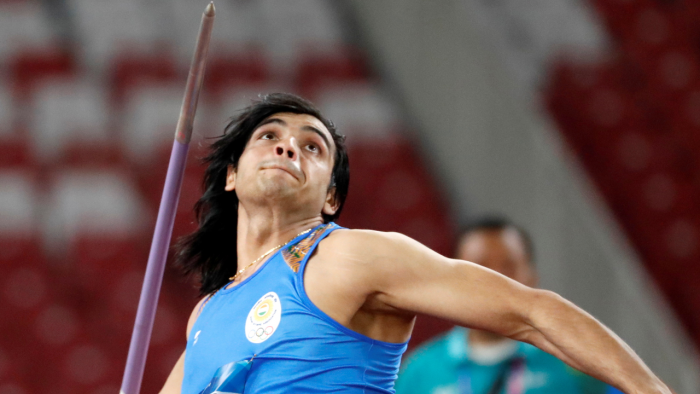 Star India javelin thrower Neeraj Chopra. Credit: Reuters Photo