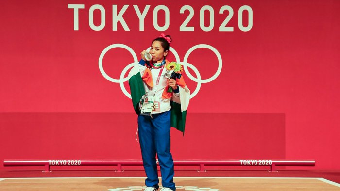 Indian athletes, like Tokyo Olympics silver medal winner Mirabai Chanu (inpic), have to surmount tremendous obstacles before they even reacha stage where they qualify for government support. Credit: PTI Photo