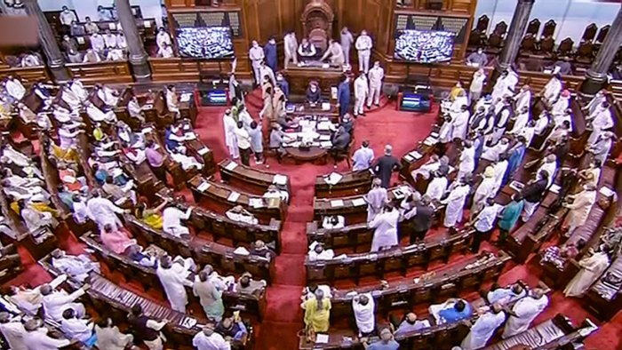 A view of the Rajya Sabha during the Monsoon Session of Parliament. Credit: PTI File Photo