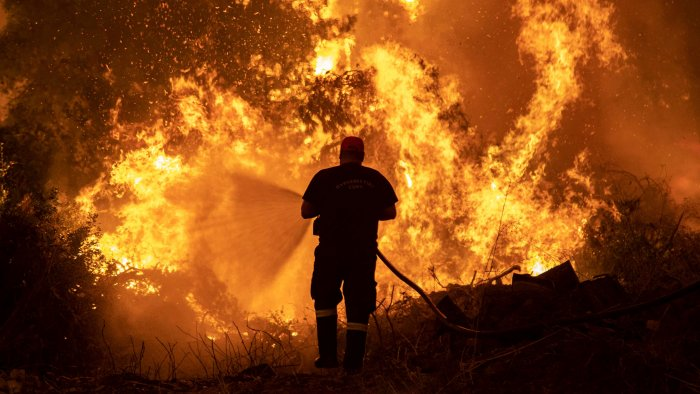 The wildfires have stretched Greece's firefighting capabilities to the limit, and the government has appealed for help from abroad. More than 20 countries in Europe and the Mideast have responded, sending planes, helicopters, vehicles and manpower. Credit: Reuters Photo