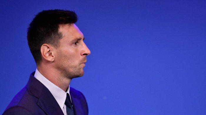 Messi bid a tearful farewell to Barcelona on Sunday. Credit: AFP Photo