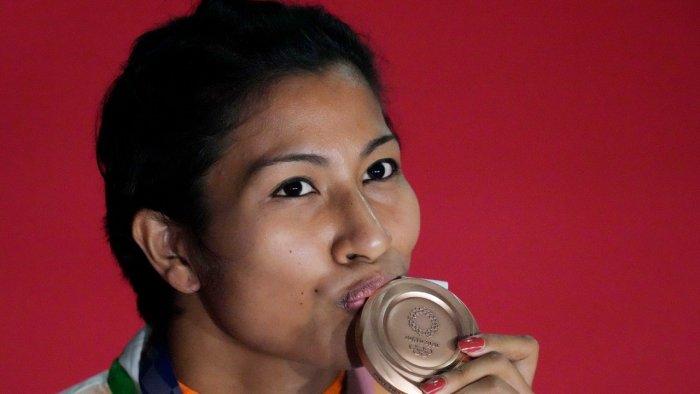 Bronze medalist Lovlina Borgohain. Credit: AP Photo