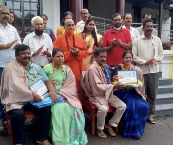 Valmiki community leaders were felicitated for their work towards organising Valmiki Jathoritsava in Kushalnagar.
