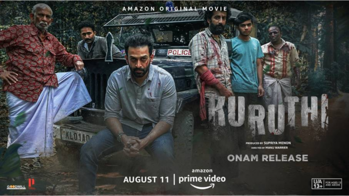 The official poster for 'Kuruthi'. Credit: Amazon Prime Video