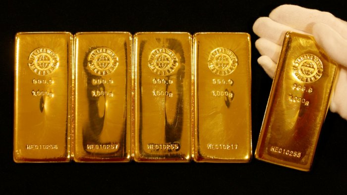 Spot gold was up 0.4 per cent at $1,735.58 per ounce by 05:23 GMT. Credit: Reuters Photo