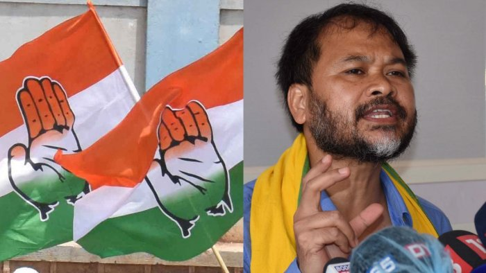 Akhil on Tuesday said his party would not join hands with Congress as long as AIUDF is with them as they consider both BJP and Ajmal's party as communal. Credit: DH, PTI File Photos