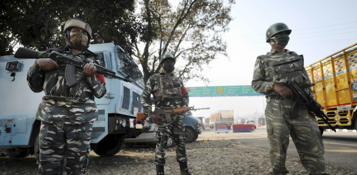 The area has been cordoned off and search operations have begun. Credit: PTI Photo
