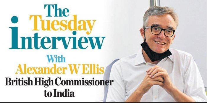 British High Commissioner to India Alexander W Ellis