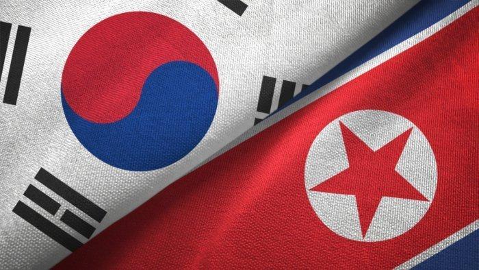 South Korea and North Korea flags. Credit: iStock Photo