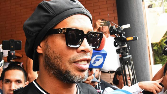 Former Barcelona and Paris Saint-Germain midfielder Ronaldinho. Credit: AFP Photo