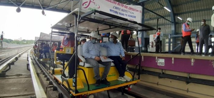 The extension has six stations: Nayandahalli, RR Nagar, Jnanabharathi, Pattanagere, Kengeri Bus Terminal and Kengeri. Credit: DH Photo