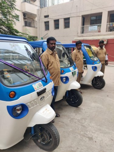 Three Wheels United has helped finance 35 electric vehicles in the city so far. Ten of the beneficiaries are women.