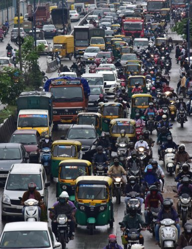 A major share of Bengaluru's air pollution is caused by vehicular traffic, say environmentalists. Between 2015 and 2020, the city saw an 80 per cent rise in respiratory illnesses triggered by air pollution.