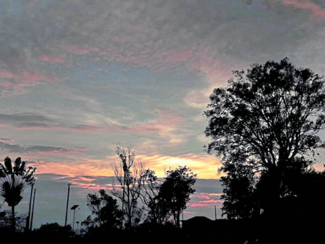 A view of the sky in Madikeri.