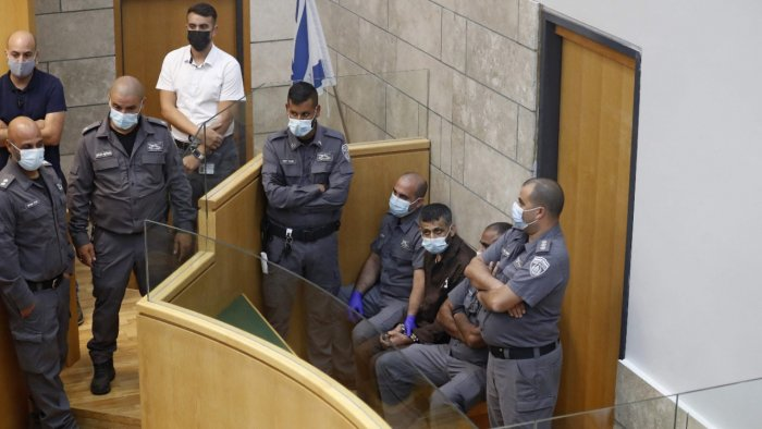 The latest two fugitives to be recaptured, who include a prominent former militant leader, were found hiding in a lorry park just outside Nazareth in northern Israel, police said. Credit: AFP Photo