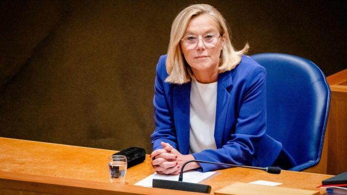 Outgoing Minister Sigrid Kaag of Foreign Affairs. Credit: AFP Photo