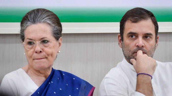 Congress Party leaders Sonia Gandhi and Rahul Gandhi. Credit: PTI File Photo
