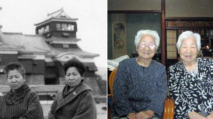 Sisters Umeno Sumiyama and Koume Kodama were born on Shodoshima island in western Japan on Nov. 5, 1913. Credit: Guiness World Record Official Website/www.guinnessworldrecords.com
