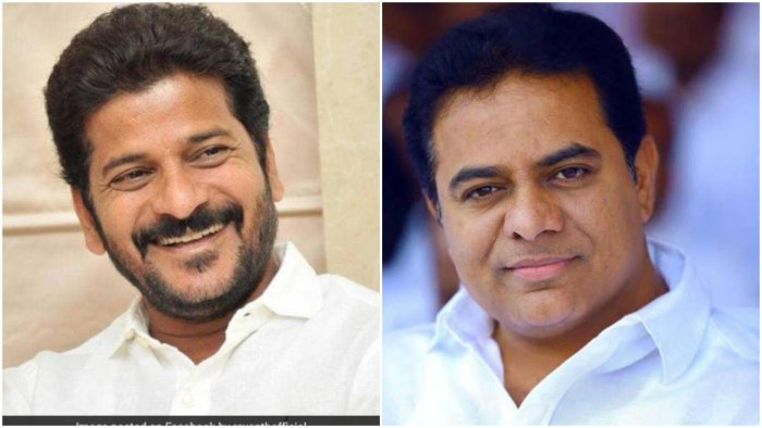 RevanthReddy (left) and KT Rama Rao file photos. Credit: DH Photo