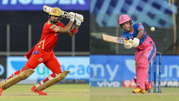 Punjab Kings captain K L Rahul (L) will square off against the Rajasthan Royals led by Sanju Samson (R). Credit: PTI File Photos