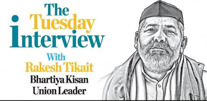 Rakesh Tikait. Credit: DH graphic
