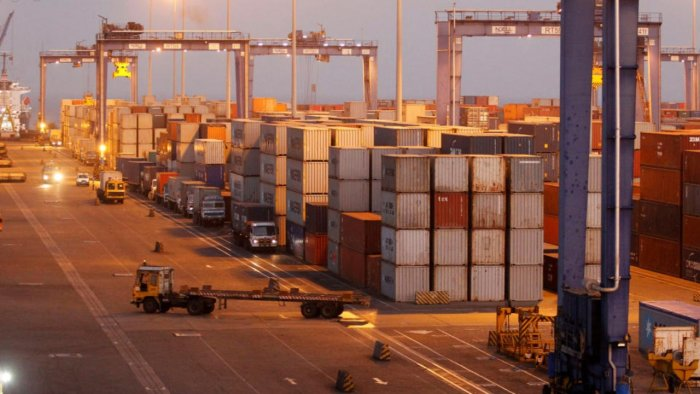 A general view of a container terminal at Mundra Port in Gujarat. Credit: Reuters Photo