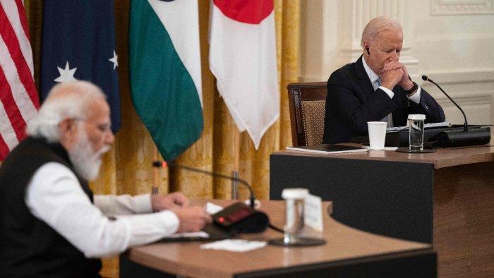 Narendra Modi (L) and Joe Biden. Credit: AFP Photo
