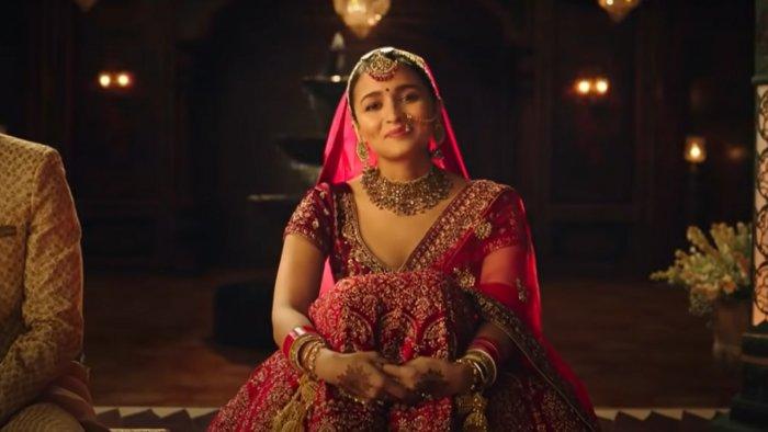 Screengrab from Alia Bhatt's ad. Credit: YouTube/ndian Advertising Co Ltd