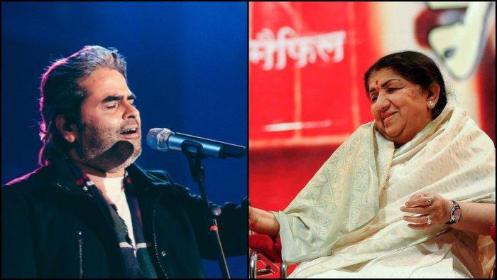 Vishal Bharadwaj and Lata Mangeshkar. Credit: Twitter/ PTI Photo