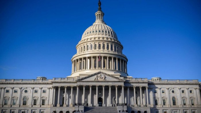 Democrats control both houses of Congress -- but just barely. They need 10 Republican votes to overcome a filibuster in the Senate, and the opposition has made clear it will not help them raise the debt limit. Credit: AFP file photo