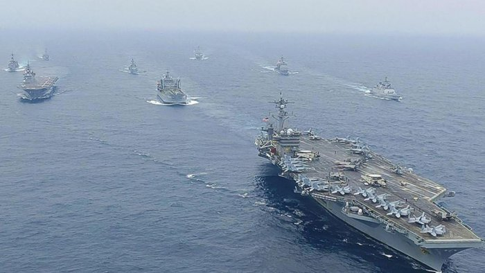 File Photo of Malabar naval exercise. Credit: AFP Photo