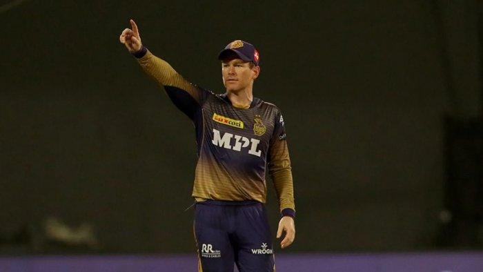 Eoin Morgan, captain of Kolkata Knight Riders. Credit: IPL20/BCCI/Sportzpics