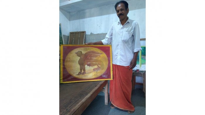 Sukumaran K S painted many of the finds from excavations in Pattanam, Kerala. Credit: Scrolls & Leaves