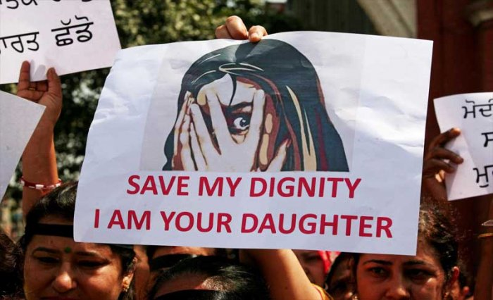 People participate in a protest against the rape of an eight-year-old girl in Kathua near Jammu, and a teenager in Unnao, Uttar Pradesh state, in Amritsar, India, April 17, 2018. Reuters file photo for representational purposes.