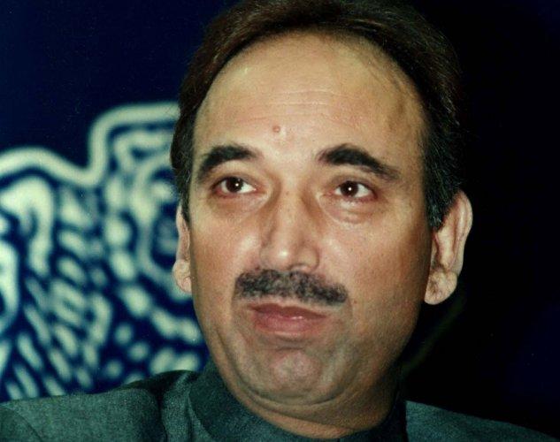 Ghulam Nabi Azad. DH file photo.