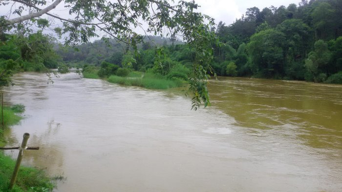 River Cauvery in spate at Siddapura.